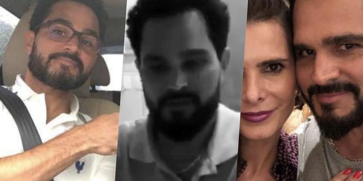 Luciano Camargo teve um vídeo com a esposa exposto (Foto: montagem)