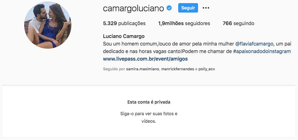 Luciano Camargo fechou sua conta no Instagram (Foto: reprodução)