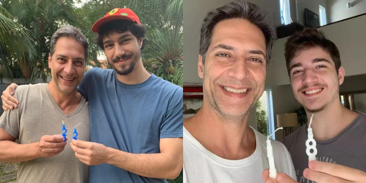 Luís Lacombe e seus filhos, Pedro e Bruno (Foto: Reprodução/Instagram)