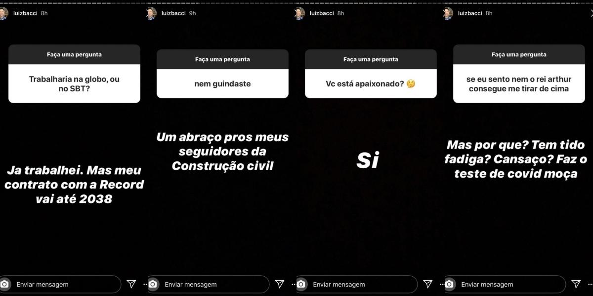 Luiz Bacci respondeu questionamento de seus seguidores (Foto: reprodução/Instagram)