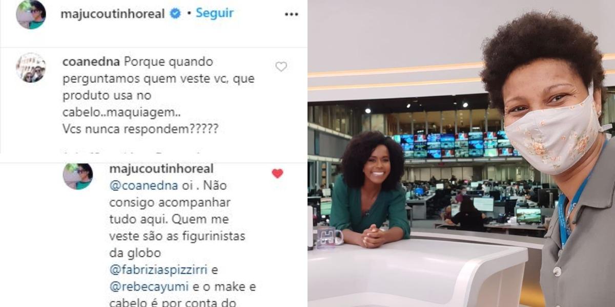 Maju Coutinho foi colocada contra a parede por uma internauta (Foto: Reprodução/Instagram)