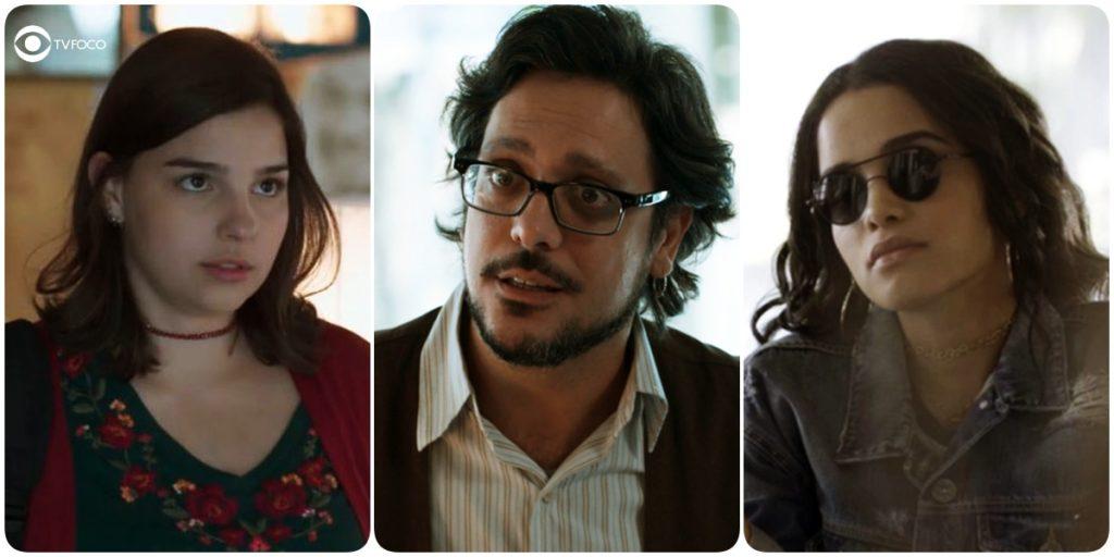 Fotomontagem de Keyla, Roney e K2 personagens da novela Malhação Viva a Diferença