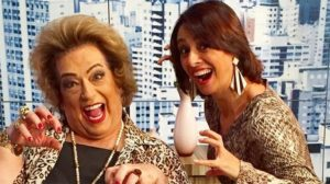 Mamma Bruschetta e Cátia Fonseca (Foto: reprodução)