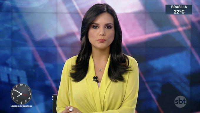 Márcia Dantas estreia no SBT Brasil (Foto: Reprodução)
