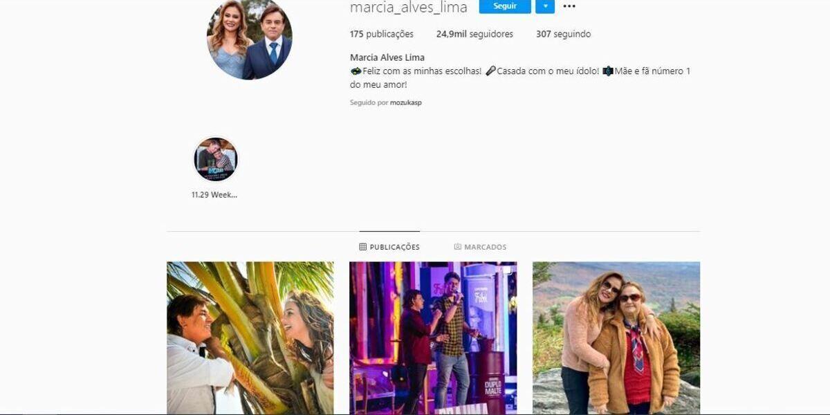 Últimas postagens de Márcia Alves, esposa de Chitãozinho (Foto: Reprodução/Instagram)