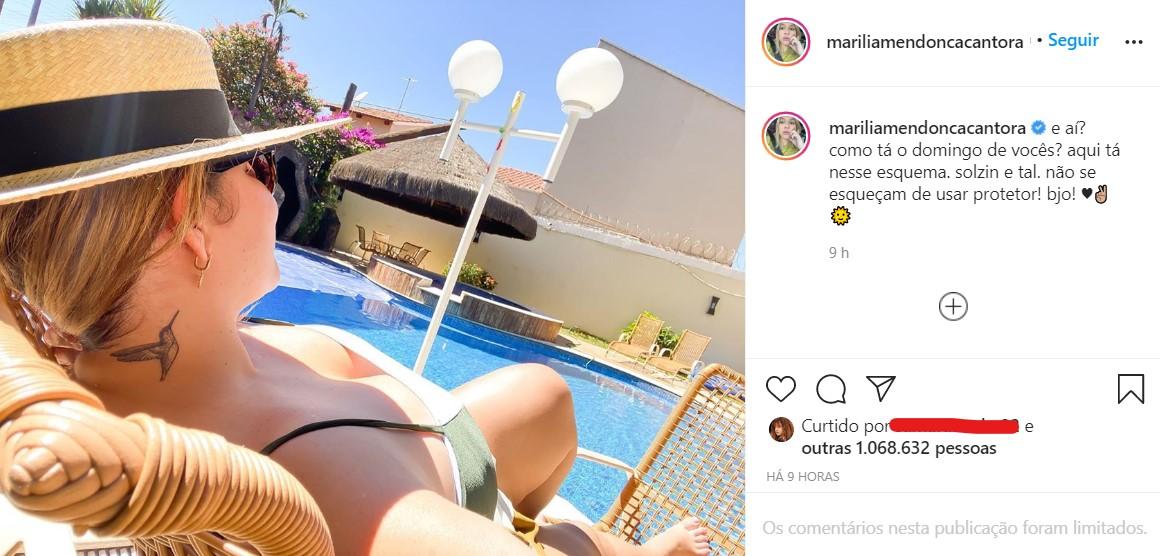 Marília Mendonça mandou indireta para o ex (Foto: Reprodução)