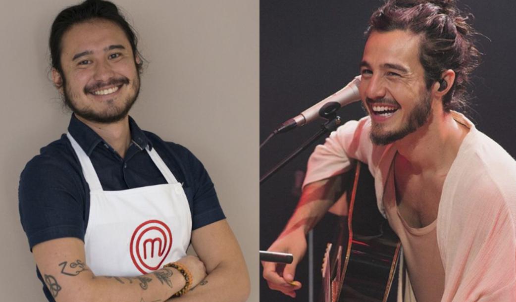 Participante do Masterchef é comparado com Tiago Iorc (Foto: Divulgação/Band)
