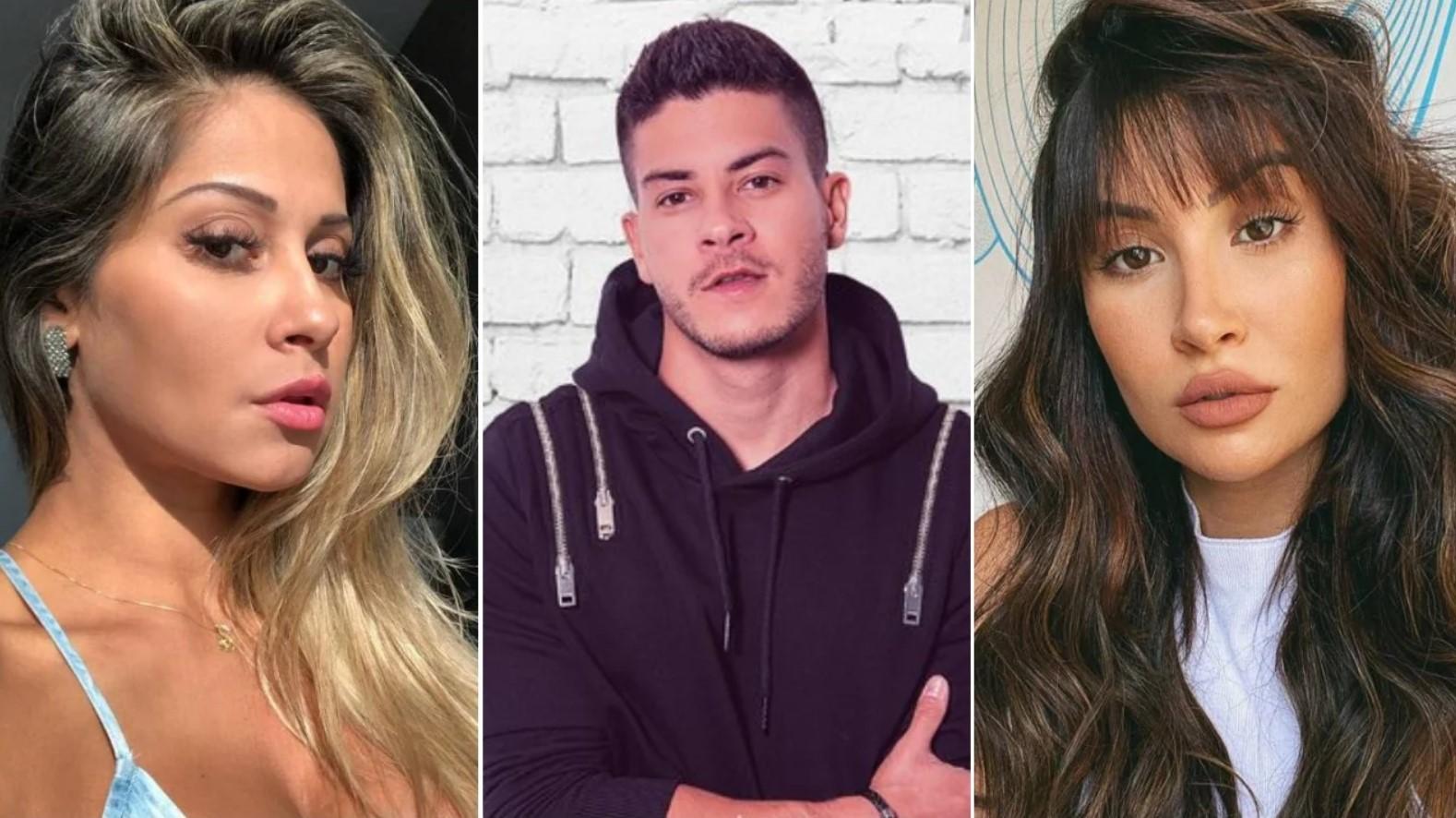 Arthur Aguiar estaria com Bianca Andrade quando começou a namorar Mayra Cardi - Foto: Montagem
