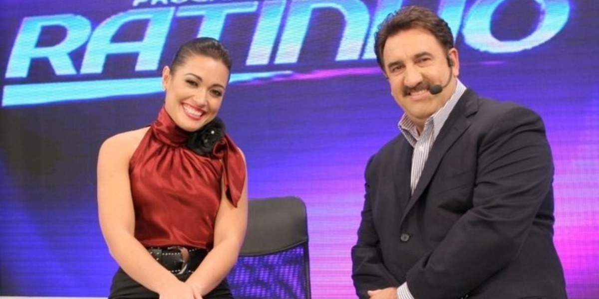 Milene Pavorô e Ratinho (Foto: Reprodução/SBT)