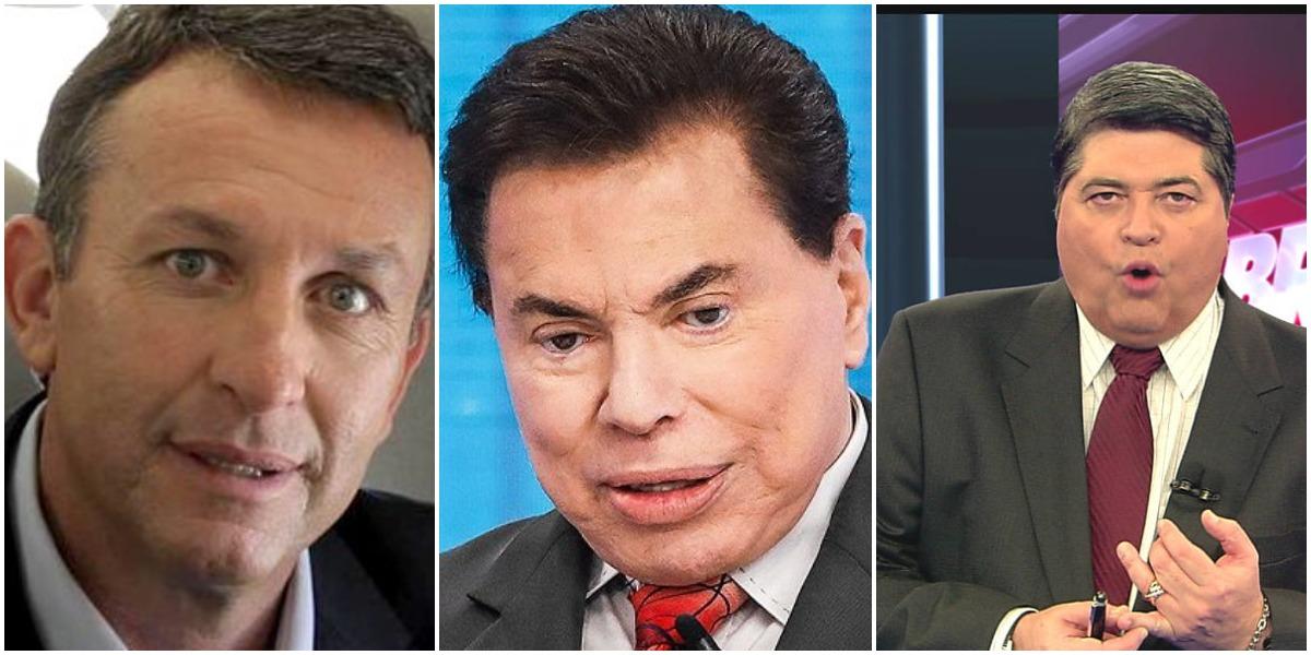 Os apresentadores Neto, Datena e Silvio Santos (Reprodução)