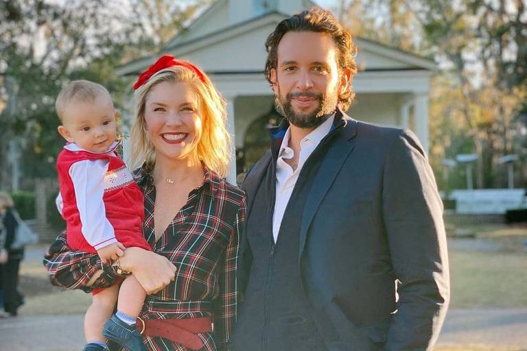 Nick Cordero deixa sua esposa Amanda Kloots e um filho, Elvis Eduardo Cordero, de 1 ano de idade (Foto: Reprodução)