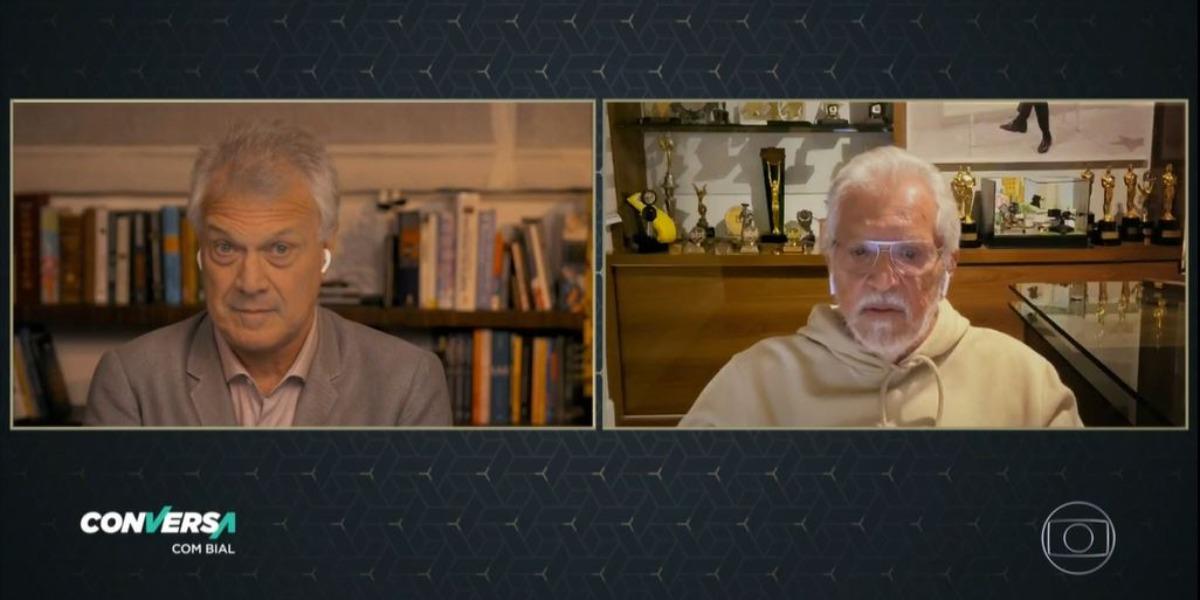 Pedro Bial entrevistou Carlos Alberto de Nóbrega (Foto: Reprodução/TV Globo)