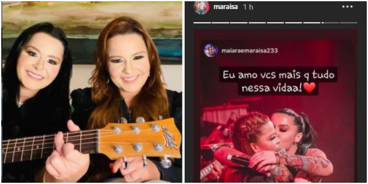 Maraisa expõe mensagem para Maiara (Foto: Reprodução)