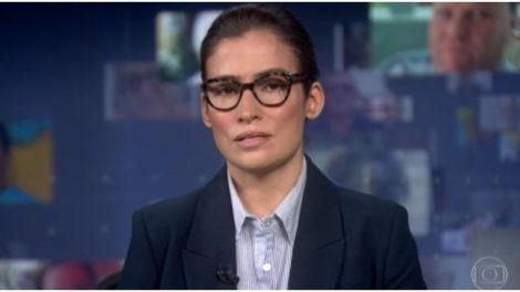 Renata Vasconcellos foi substituída por Ana Paula Araújo, jornalista (Foto: Reprodução)