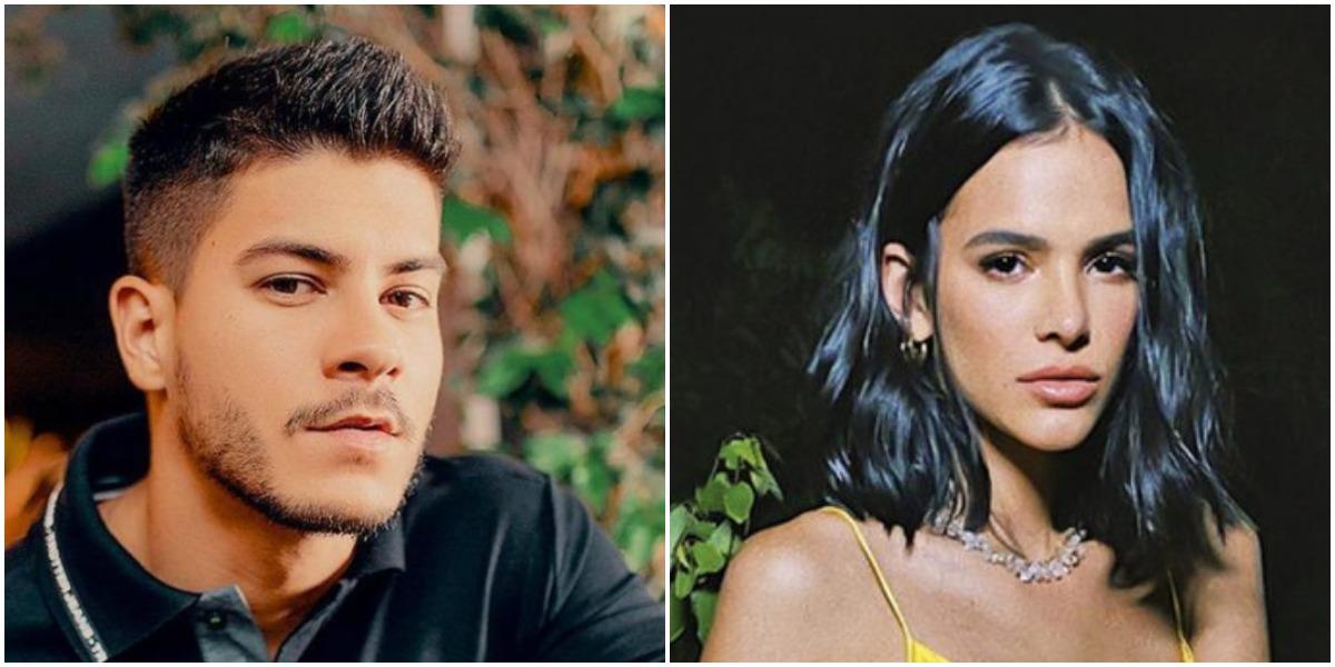Arthur Aguiar teve romance no passado com Bruna Marquezine (Foto: Reprodução/ Montagem)