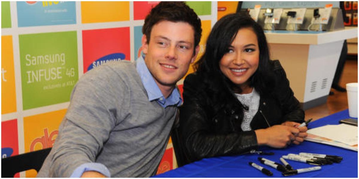 Naya Rivera e Cory Monteith trabalharam juntos em Glee (Foto: Reprodução)