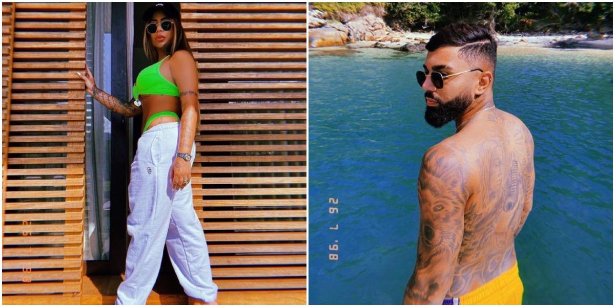 Rafaella Santos e Gabigol usaram o mesmo filtro e o mesmo óculos (Foto: Reprodução/ Montagem/ TV Foco)