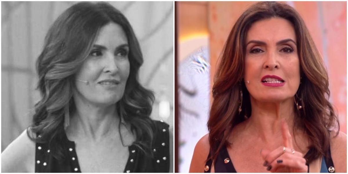 Fátima Bernardes foi desmascarada ao pedir o fim de programa na Globo (Foto: Reprodução/ Montagem/ TV Foco)
