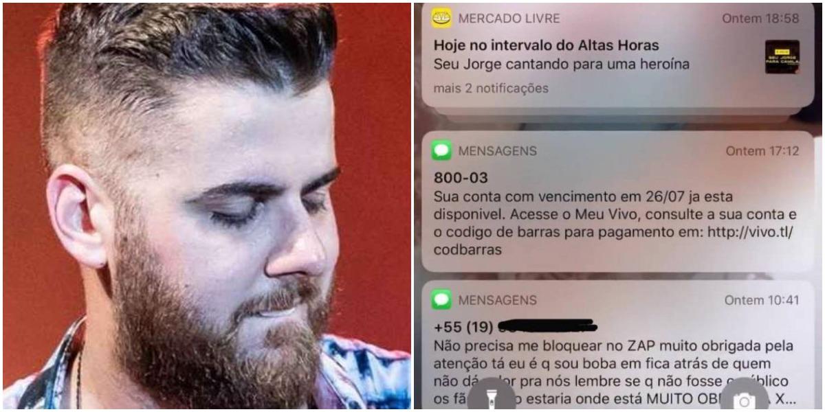 Zé Neto ignora fã e deixa escapar (Foto: Reprodução)