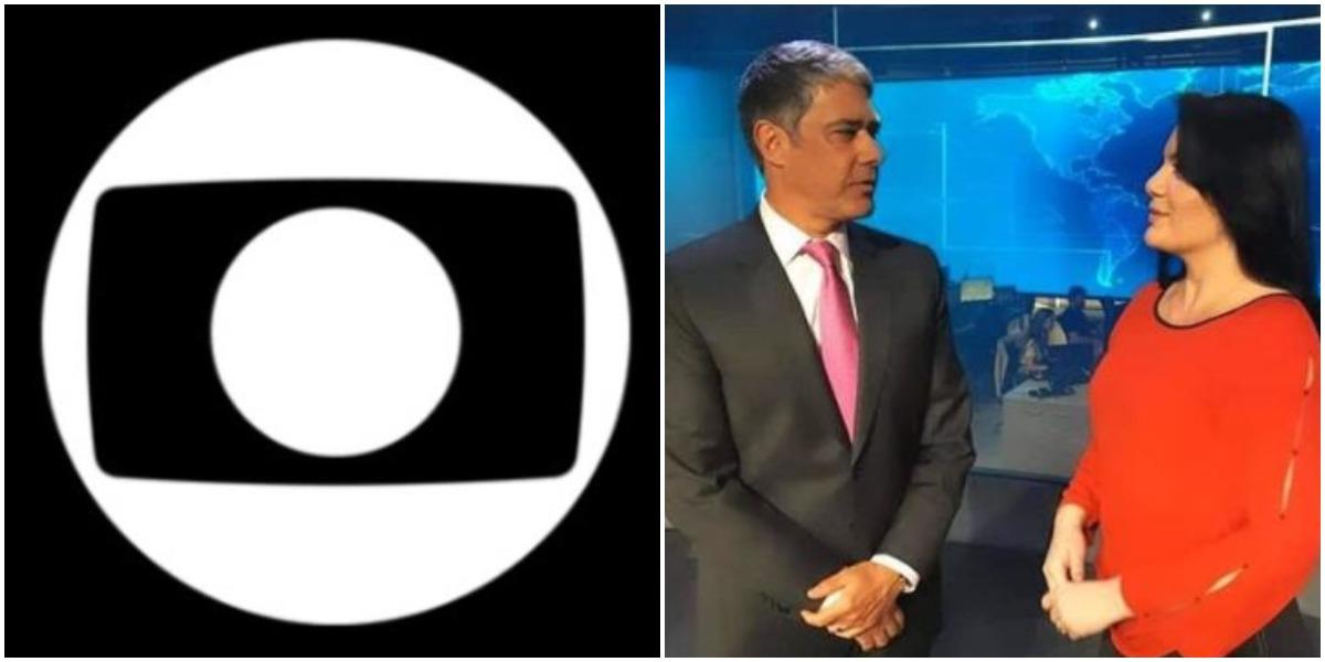 William Bonner e Ellen Santos na Globo (Foto: Reprodução)