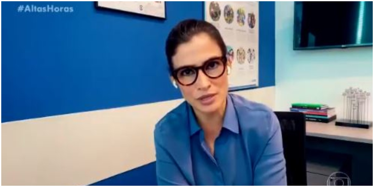Renata Vasoncellos no Altas Horas (Foto: Reprodução)