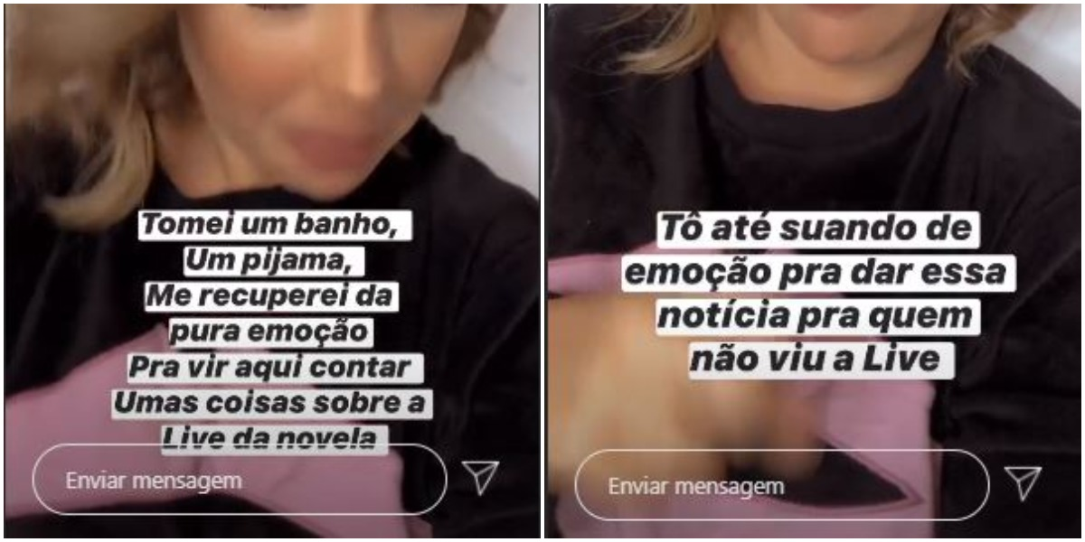 Fernanda Souza chora por conta de live (Foto: Reprodução)