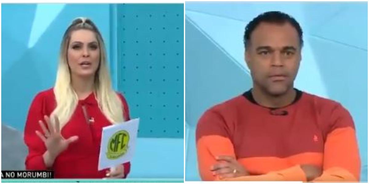 Renata Fan e Denilson no Jogo Aberto (Foto: Reprodução)