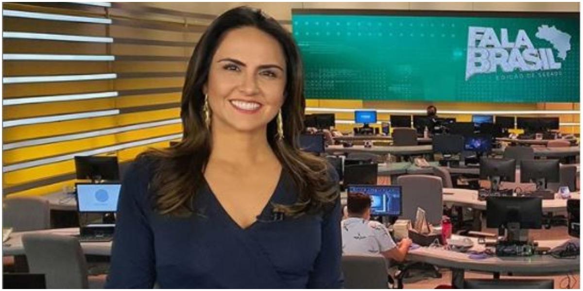 Carla Cecato apresenta o Fala Brasil nos sábados (Foto: Reprodução)