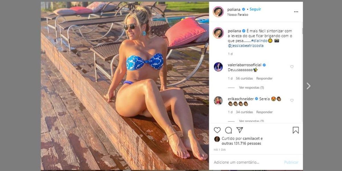 Poliana Rocha chocou com boa forma nas redes sociais (Foto: Reprodução/Instagram)