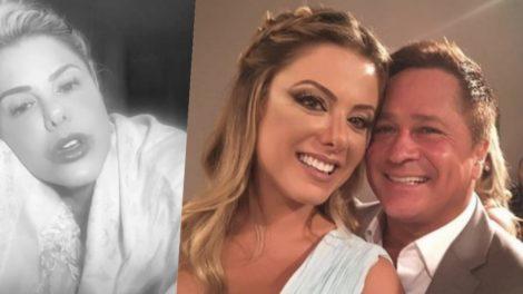 Poliana Rocha está casada com o cantor Leonardo há vinte e tres anos (Foto montagem: TV Foco)