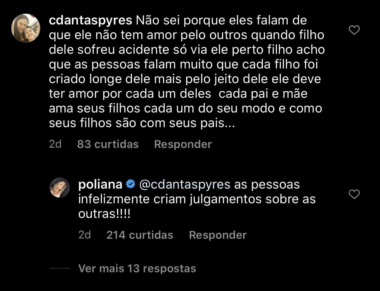 Poliana Rocha comentou sobre a suposta rejeição de Leonardo com os filhos (Foto: reprodução/Instagram)