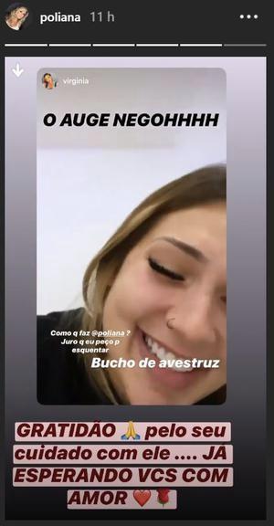 Poliana Rocha agradeceu a namorada de Zé Felipe (Foto montagem: TV Foco)