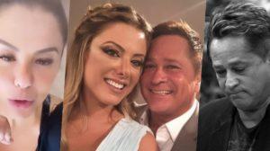 Poliana Rocha flagrou Leonardo vendo uma loira pelada (Foto montagem: TV Foco)