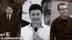 Datena, Rodrigo Faro e Neto receberam previsões de uma famosa vidente (Foto montagem: TV Foco)