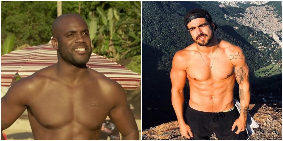 Os atores Caio Castro e Rafael Zulu (Reprodução)