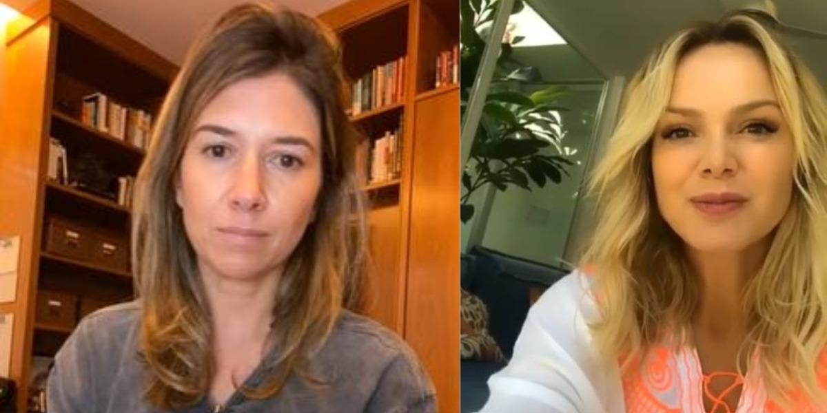 Rebeca Abravanel e Eliana conversaram em live, no dia 22 de maio (Foto: Reprodução/YouTube/Instagram)