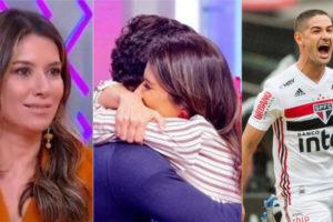 Rebeca Abravanel foi cobrada em relação com Pato (Foto: Reprodução/SBT/Instagram)