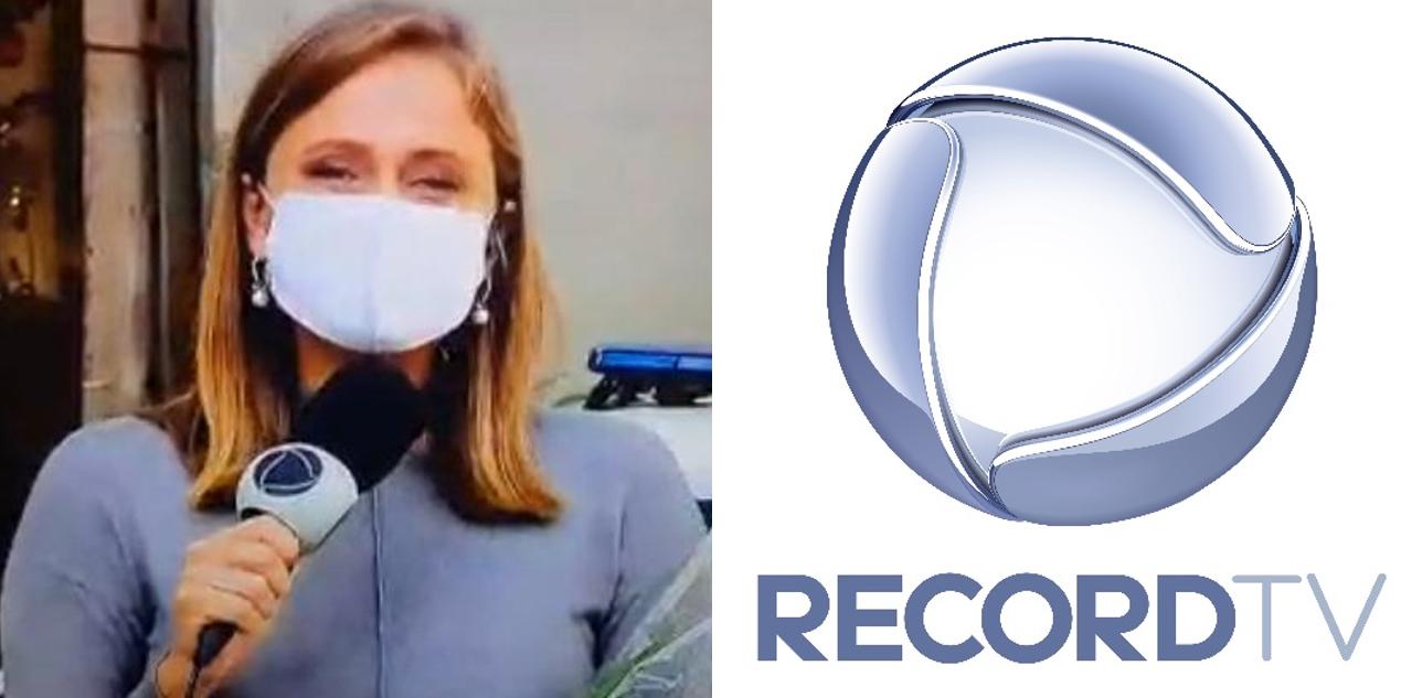 Repórter da Record anuncia demissão em programa local e recebe homenagem do apresentador (Foto: Reprodução)
