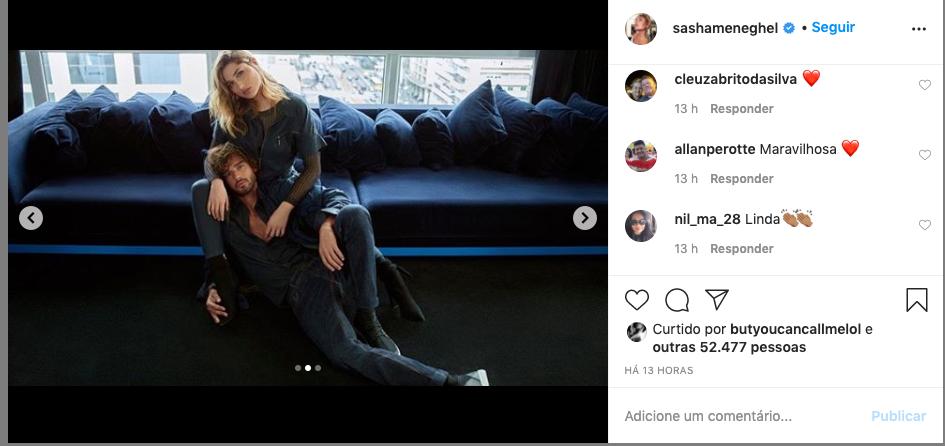Sasha Meneghel surgiu com modelo bonitão (Foto: Reprodução/ Instagram)
