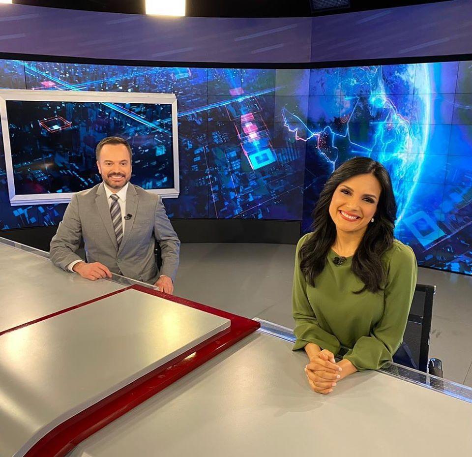 SBT Brasil com Marcelo Torres e Márcia Dantas (Foto: Reprodução)