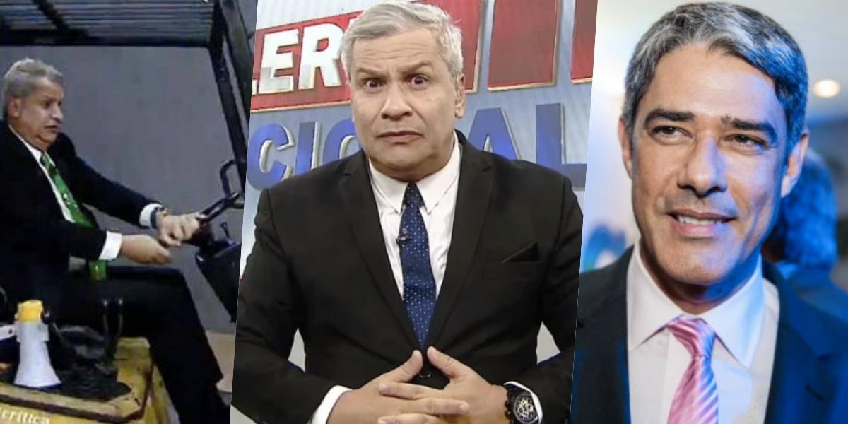 Sikêra Jr. já causou muito em seis meses na RedeTV! e envolveu William Bonner (Foto montagem: TV Foco)