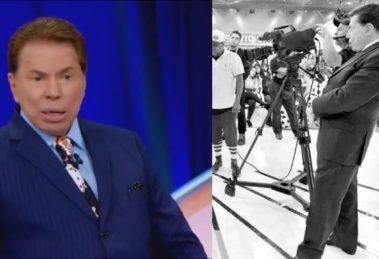 Silvio Santos foi 'atropelado' por apresentador (Foto: Reprodução/SBT)