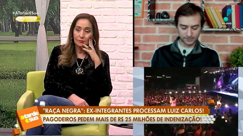 Sonia Abrão abordou uma polêmica envolvendo Luiz Carlos do Raça Negra (Foto: Reprodução/RedeTV!)
