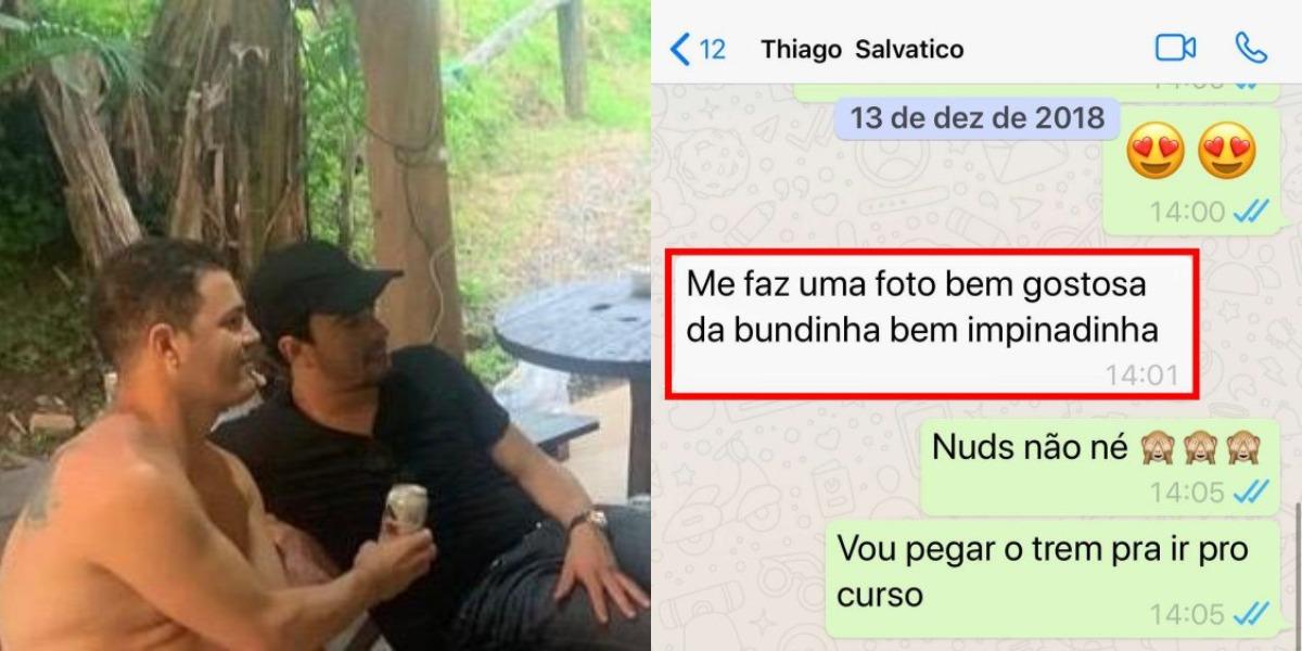 Thiago Salvático e Guilherme Stangherlin (Foto: Coluna do Leo Dias/Metrópoles)