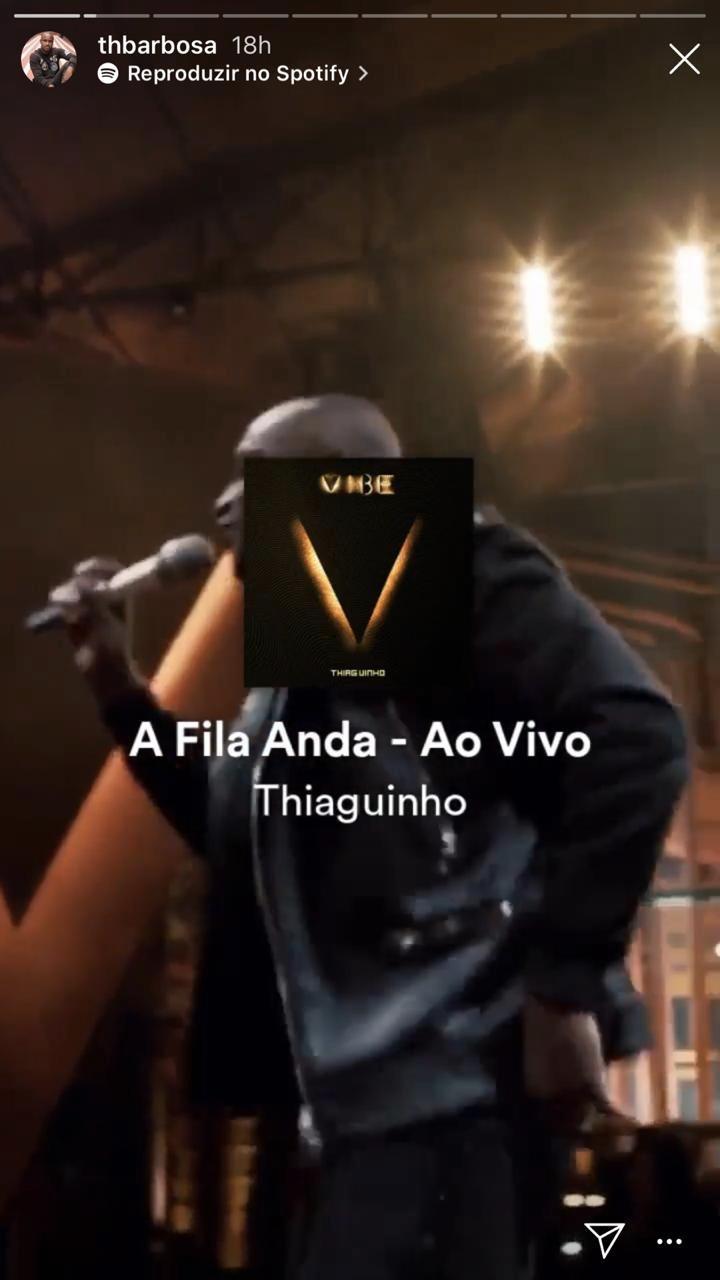 Thiaguinho compartilhou um novo stories (Foto: reprodução/Instagram)