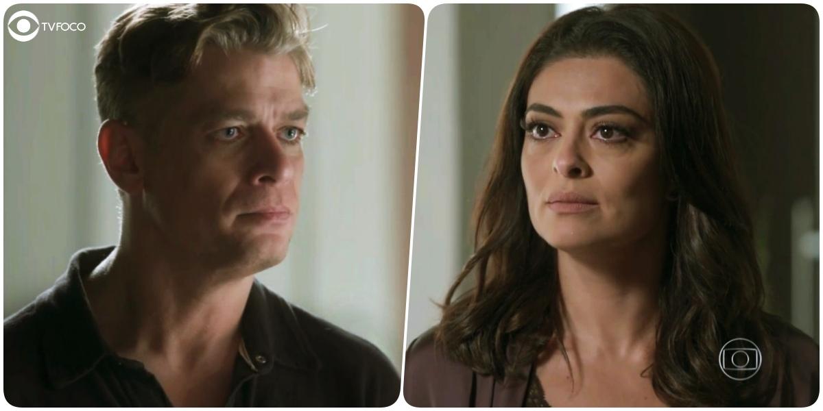Arthur (Fábio Assunção) colocará Carolina (Juliana Paes) no olho da rua em Totalmente Demais (Foto: Reprodução/Globo/Montagem/TV Foco)