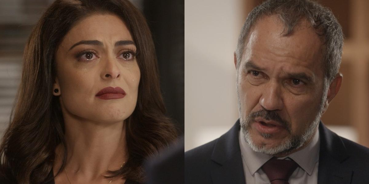 Carolina (Juliana Paes) sofrerá vingança de Germano (Humberto Martins) em Totalmente Demais (Foto: Reprodução/Globo)