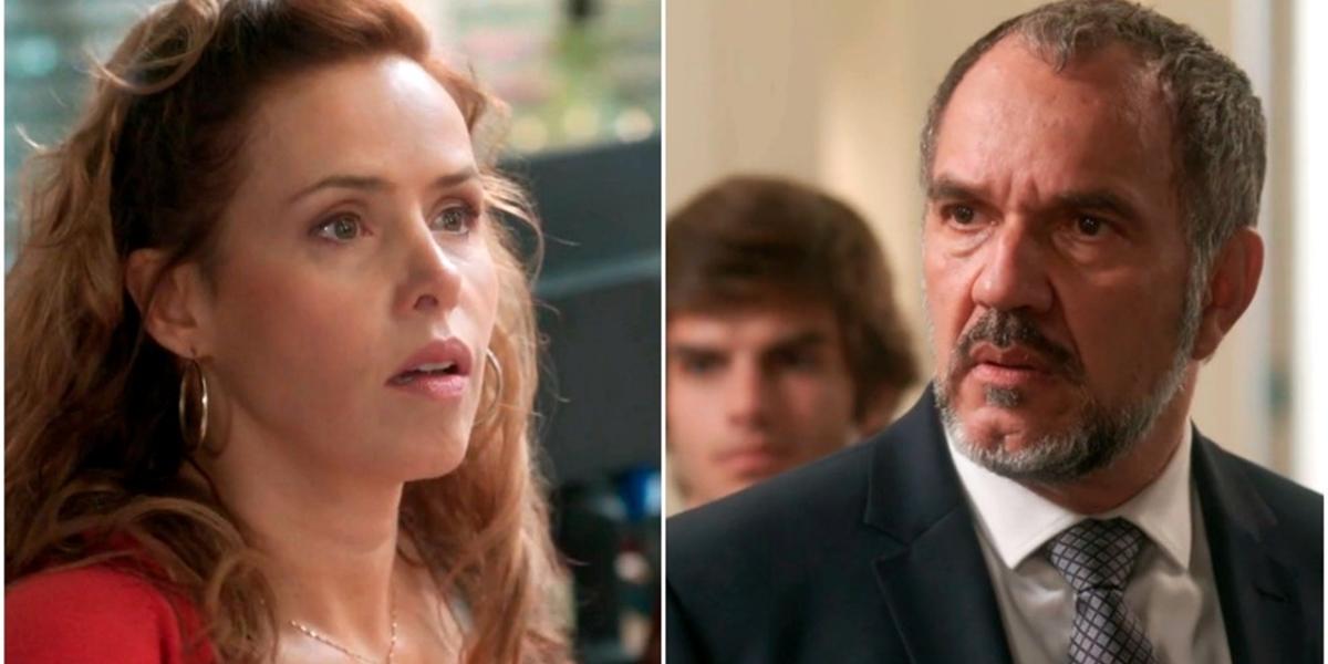 Gilda (Leona Cavalli) deixará Germano (Humberto Martins) desesperado com visita em Totalmente Demais (Foto: Reprodução/Globo)