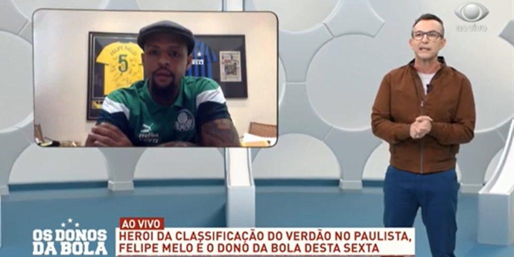 Felipe Melo e Neto em Os Donos da Bola. (Foto: Reprodução)