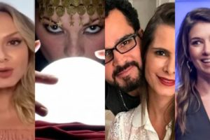 Vidente fez previsões sobre Eliana, Luciano Camargo e Rebeca Abravanel (Foto montagem: TV Foco)